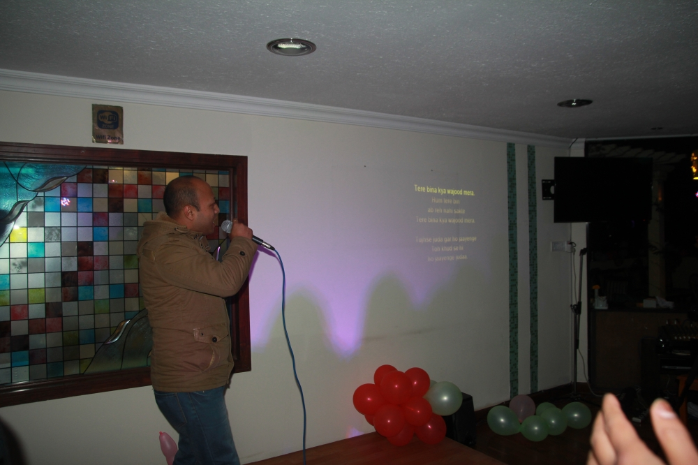 karaoke performer of the day ..