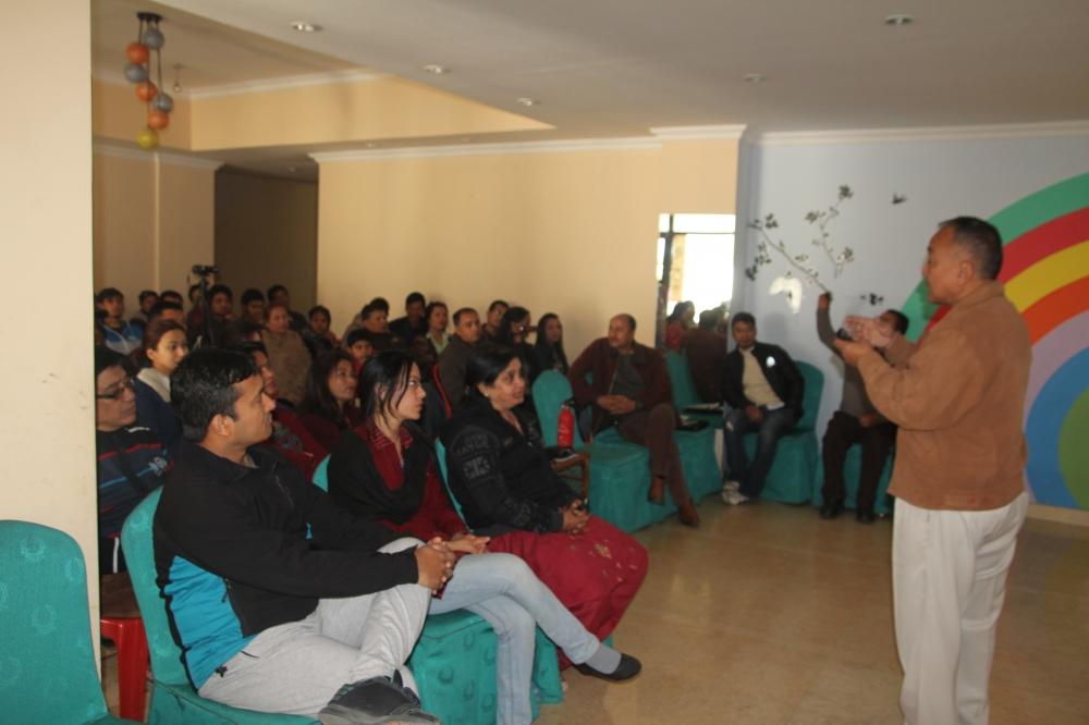 Mr. Jit Bahadur Rai explaining to the participants