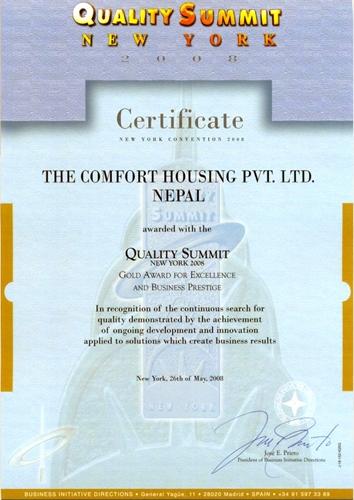 Certificate May 26,2008